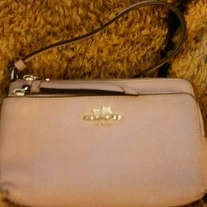 COACH Nude Smooth Leather Wallet Wristlet